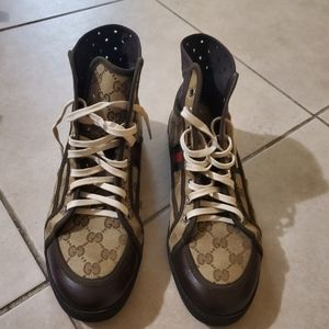 Gucci high top Mens size 8